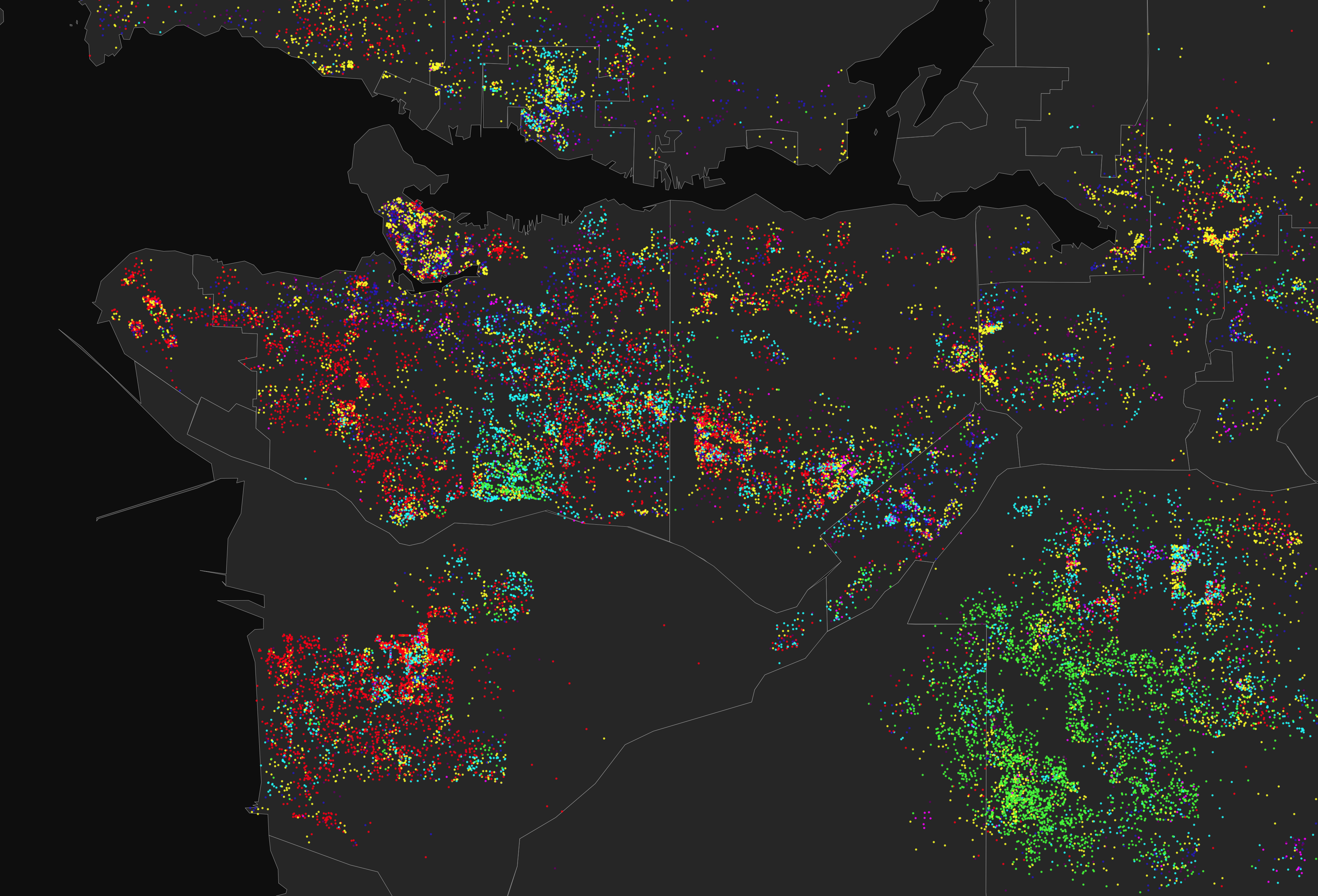 dot-density Dot Density Map on